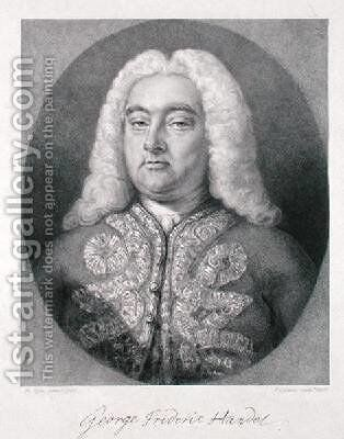 George Frederick Handel 1685-1759 by (after) Kyte, Francis - Reproduction Oil Painting