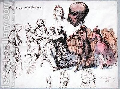 Study for Les Polonaises de Chopin by Antar Teofil Kwiatowski - Reproduction Oil Painting