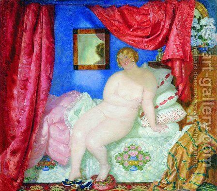 Beauty by Boris Kustodiev - Reproduction Oil Painting