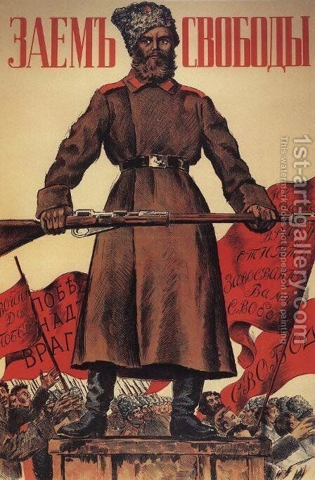 Poster for the Freedom Loan by Boris Kustodiev - Reproduction Oil Painting