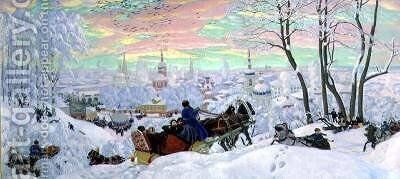 Shrove Tide 3 by Boris Kustodiev - Reproduction Oil Painting