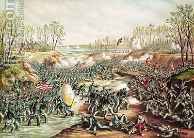 The Battle of Shiloh by and Allison Kurz - Reproduction Oil Painting