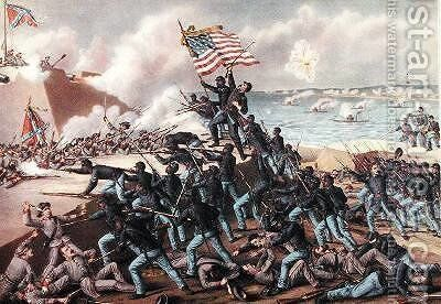 Storming Fort Wagner by and Allison Kurz - Reproduction Oil Painting