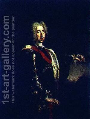 Portrait of Prince Eugene of Savoy by Johann Kupezky or Kupetzky - Reproduction Oil Painting