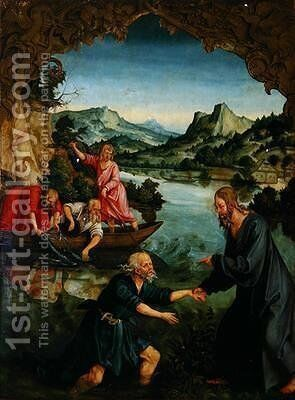 Calling of St Peter by Hans Suess Kulmbach - Reproduction Oil Painting
