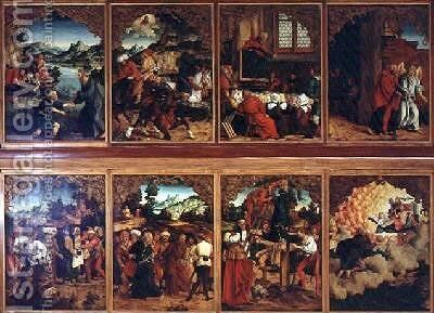 Polyptych The Life of Christ by Hans Suess Kulmbach - Reproduction Oil Painting