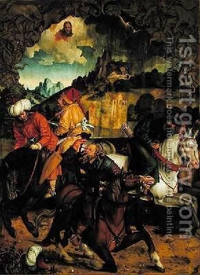 The Conversion of St Paul by Hans Suess Kulmbach - Reproduction Oil Painting
