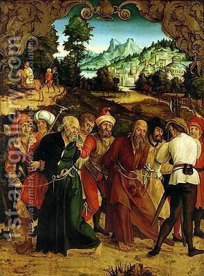 The Arrest of St Peter and St Paul by Hans Suess Kulmbach - Reproduction Oil Painting