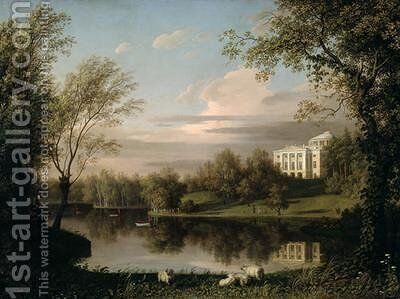 View of the Pavlovsk Palace by Carl Ferdinand von Kugelgen - Reproduction Oil Painting