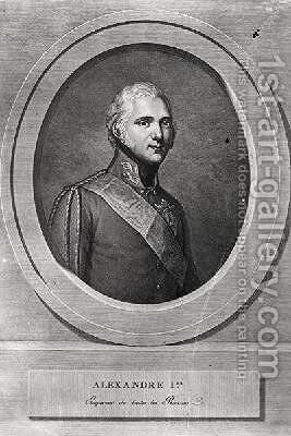Portrait of Alexander I 1777-1825 by (after) Kuchelchen, Gerhard - Reproduction Oil Painting