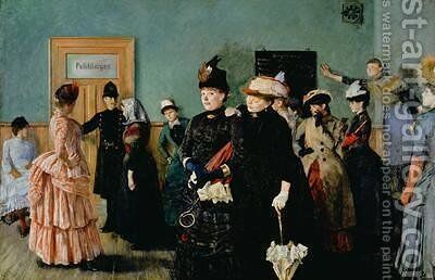 Albertine at the Police Doctors waiting room by Christian Krohg - Reproduction Oil Painting