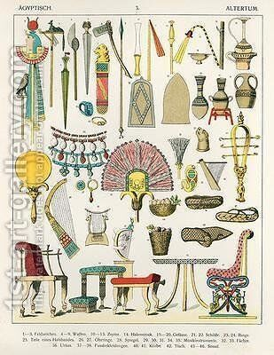 Egyptian Accessories by Albert Kretschmer - Reproduction Oil Painting