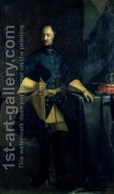 Portrait of King Karl XII 1682-1718 by David von Krafft - Reproduction Oil Painting