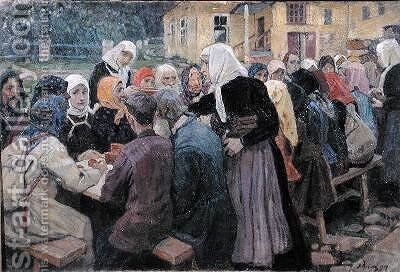 Meal by Alexei Mikhailovich Korin - Reproduction Oil Painting