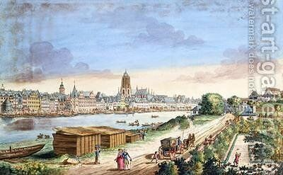 View of the Town of Frankfurt facing south by Johann Jacob Koller - Reproduction Oil Painting