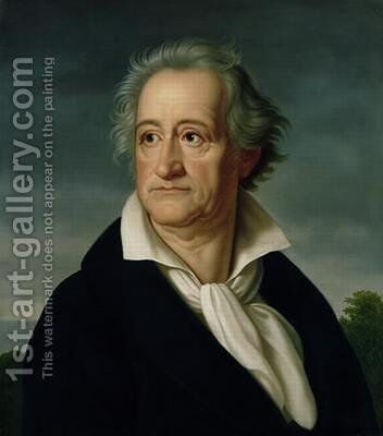 Goethe 1749-1832 by Heinrich Christoph Kolbe - Reproduction Oil Painting