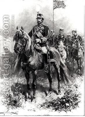 His Imperial Majesty Mutsuhito Emperor of Japan 1852-1912 by H.W. Koekkoek - Reproduction Oil Painting