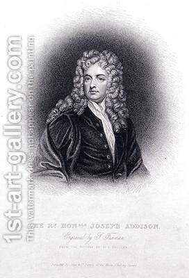 The Rt Hon Joseph Addison by (after) Kneller, Sir Godfrey - Reproduction Oil Painting