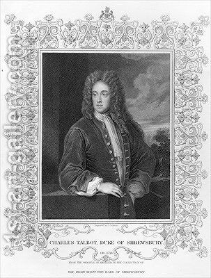 Charles Talbot Duke of Shrewsbury by (after) Kneller, Sir Godfrey - Reproduction Oil Painting