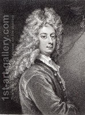 William Congreve 1670-1729 by (after) Kneller, Sir Godfrey - Reproduction Oil Painting