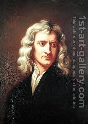 Sir Isaac Newton 1642-1723 2 by (after) Kneller, Sir Godfrey - Reproduction Oil Painting