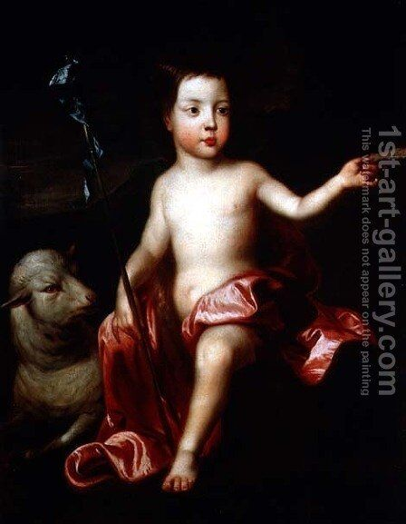 St John the Baptist in the Wilderness by (after) Kneller, Sir Godfrey - Reproduction Oil Painting