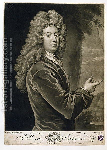 William Congreve 1670-1729 2 by (after) Kneller, Sir Godfrey - Reproduction Oil Painting