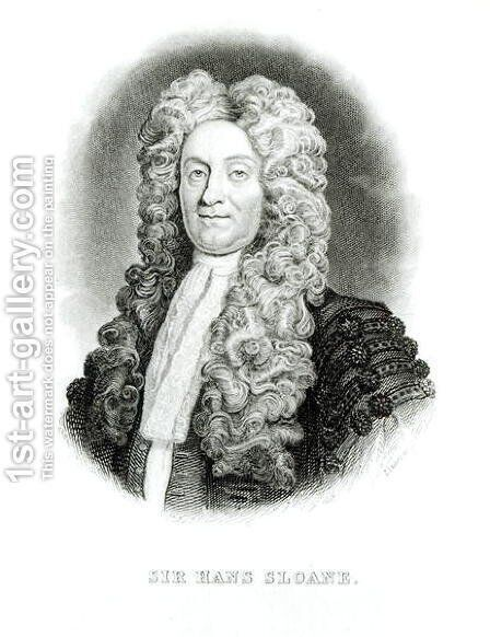 Sir Hans Sloane 1660-1753 by (after) Kneller, Sir Godfrey - Reproduction Oil Painting