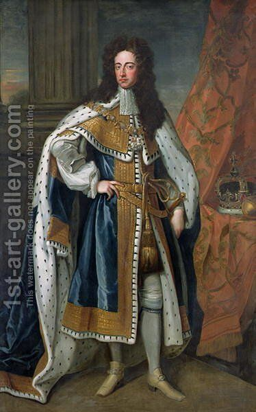 Portrait of William III 1650-1702 of Orange 2 by (after) Kneller, Sir Godfrey - Reproduction Oil Painting