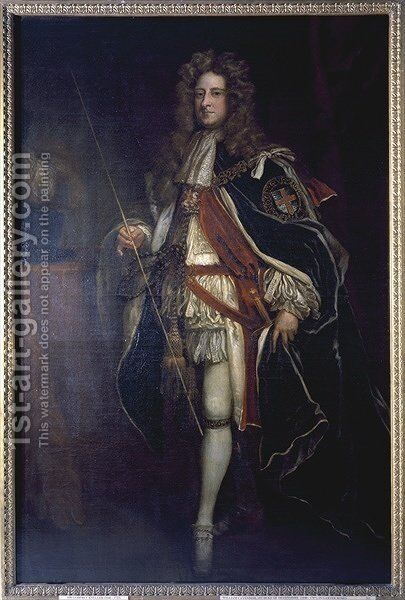 Portrait of William Cavendish 1st Duke of Devonshire by Sir Godfrey Kneller - Reproduction Oil Painting