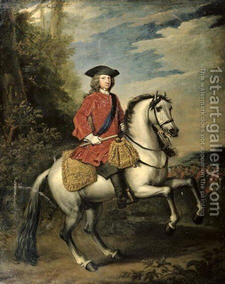 Portrait of King George I by Sir Godfrey Kneller - Reproduction Oil Painting