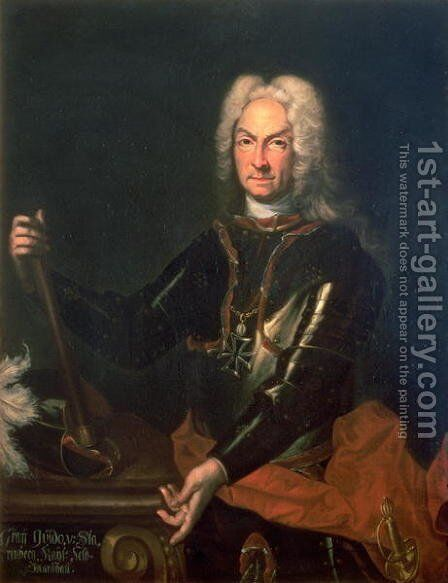 Field Marshall Count Guidobald von Starhemberg 1654-1737 Austrian military commander in Spain during the War of The Spanish Succession by Sir Godfrey Kneller - Reproduction Oil Painting