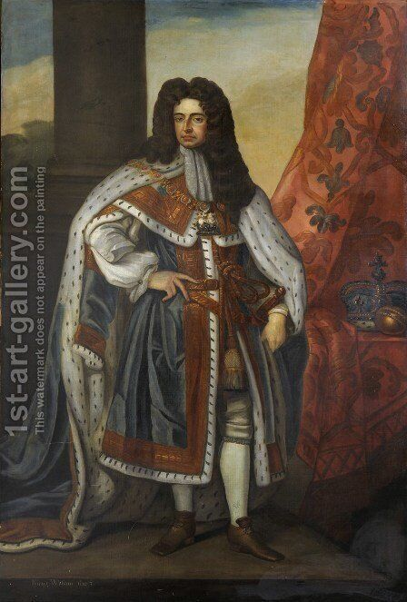 Portrait of King William III 1650-1702 by Sir Godfrey Kneller - Reproduction Oil Painting
