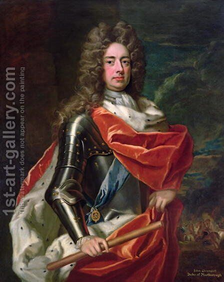 Portrait of John Churchill 1650-1722 1st Duke of Marlborough by Sir Godfrey Kneller - Reproduction Oil Painting