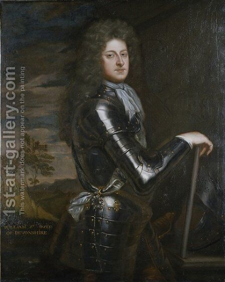 Portrait of William Cavendish 1st Duke of Devonshire 2 by Sir Godfrey Kneller - Reproduction Oil Painting