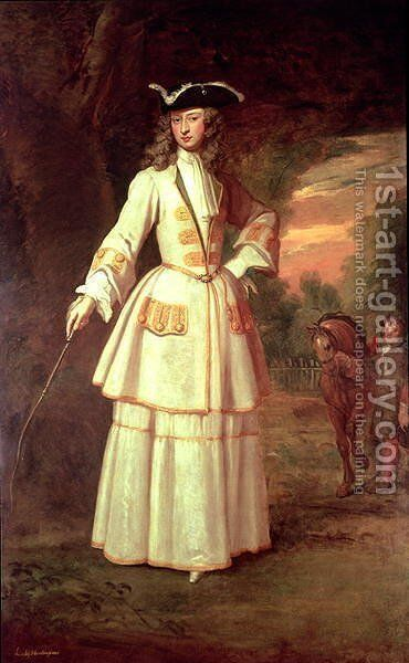 Henrietta Cavendish Lady Huntingdon by Sir Godfrey Kneller - Reproduction Oil Painting
