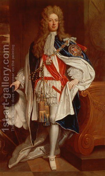 The Duke of Marlborough in Garter Robes by Sir Godfrey Kneller - Reproduction Oil Painting