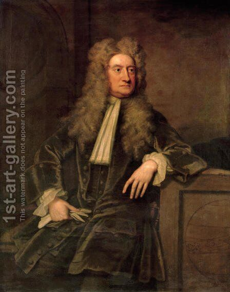Sir Isaac Newton by Sir Godfrey Kneller - Reproduction Oil Painting