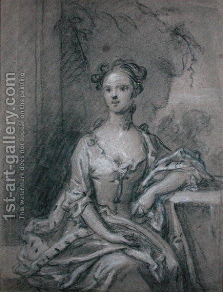 Study for a portrait of a Lady by Sir Godfrey Kneller - Reproduction Oil Painting