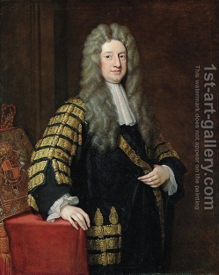 Portrait of William 1st Earl Cowper by Sir Godfrey Kneller - Reproduction Oil Painting