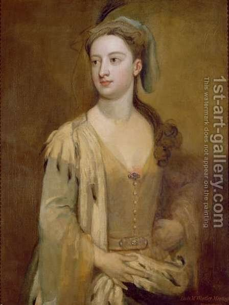 A Woman called Lady Mary Wortley Montagu by Sir Godfrey Kneller - Reproduction Oil Painting