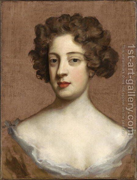 Portrait of a Lady by Sir Godfrey Kneller - Reproduction Oil Painting