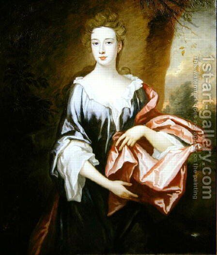Portrait of Elizabeth Sherman Lady Vincent by Sir Godfrey Kneller - Reproduction Oil Painting