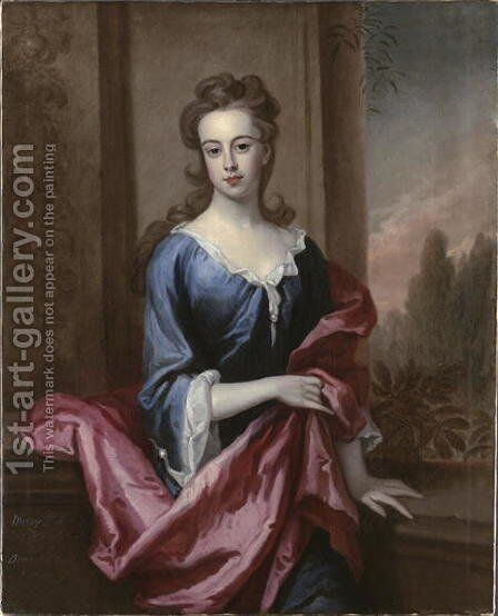Portrait of Mary Calverley Lady Sherard by Sir Godfrey Kneller - Reproduction Oil Painting