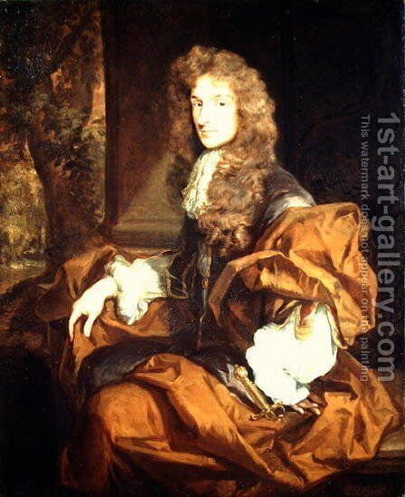 Portrait of a Knight probably of the Sedley Family by Sir Godfrey Kneller - Reproduction Oil Painting