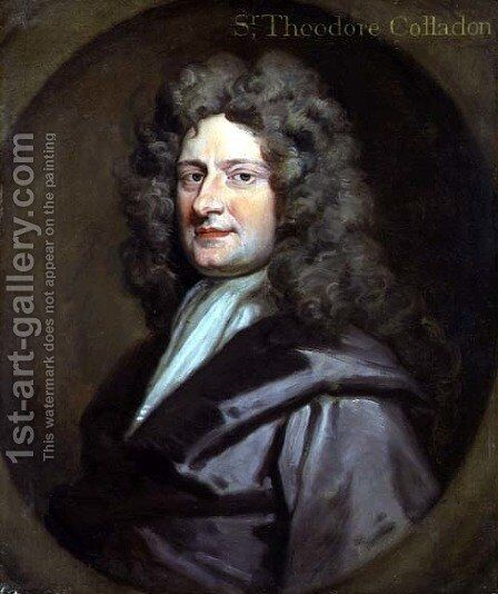 Sir Theodore Colladon by Sir Godfrey Kneller - Reproduction Oil Painting