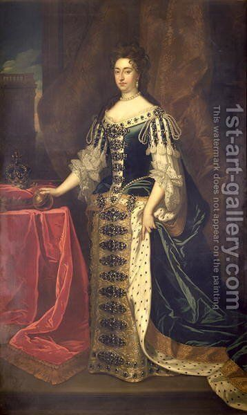 Queen Mary II by Sir Godfrey Kneller - Reproduction Oil Painting