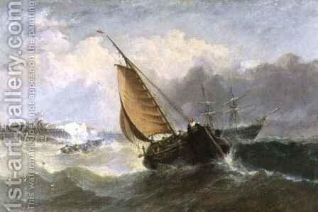 Broadstairs Squally Weather by Adolphus Knell - Reproduction Oil Painting