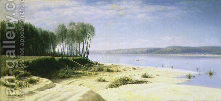 On the Volga by Mikhail Konstantinovich Klodt - Reproduction Oil Painting