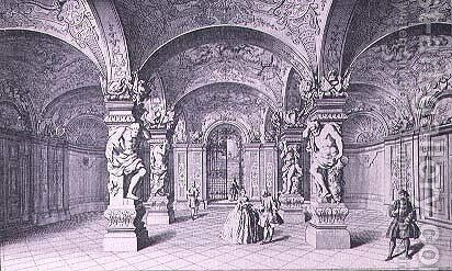 The Hall Sala Terrena of the Upper Belvedere in Vienna by (after) Kleiner, Salomon - Reproduction Oil Painting